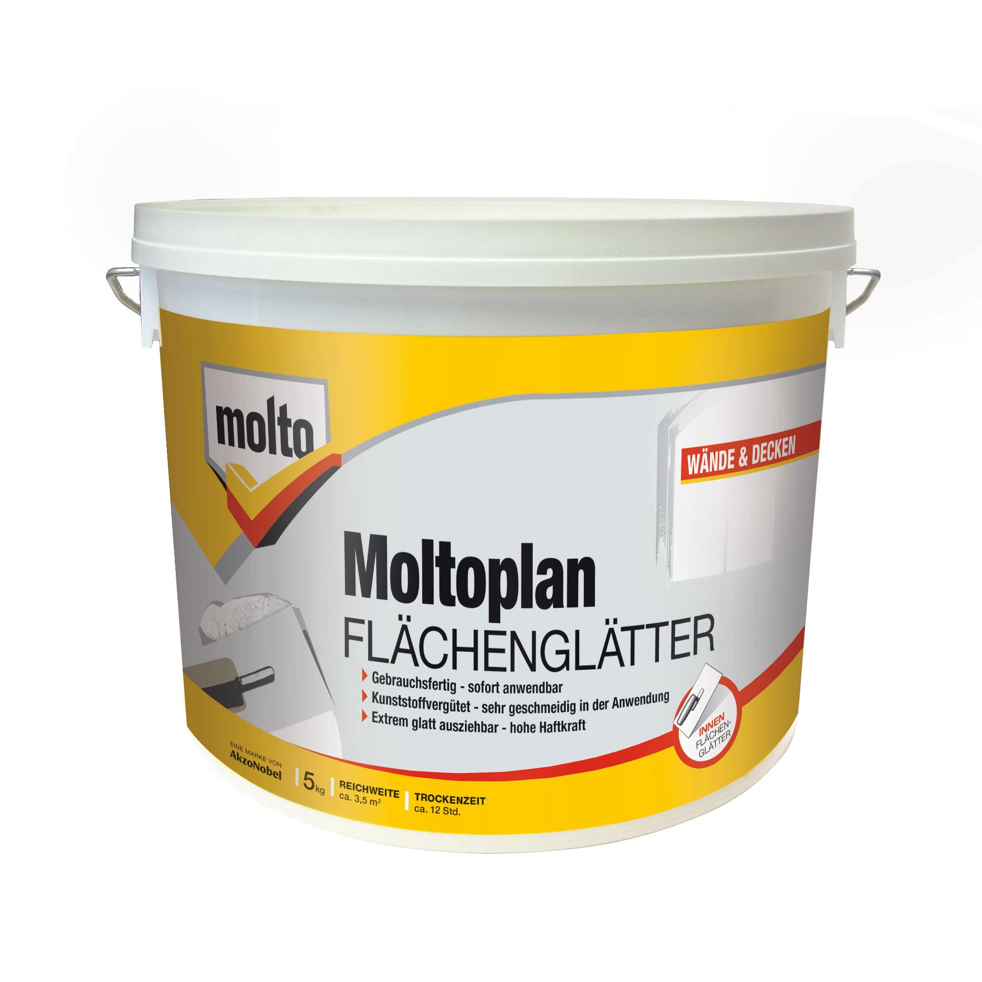 molto flächenglätter moltofill fertigspachtel - zum glätten der wände