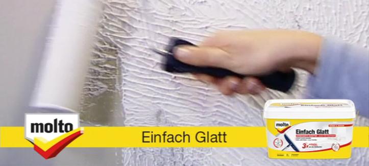 Molto Einfach Glatt - In nur 2 Schritten zu einer glatten Wand!