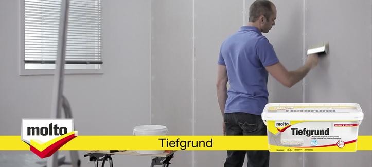 Tapezieren Anleitung molto tiefgrund anleitung grundieren vor dem tapezieren